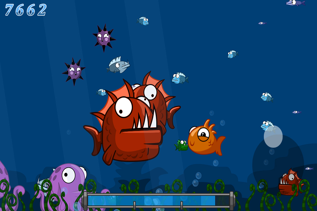Little fish ios android game static games for Ten little fish