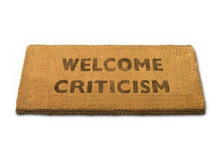 Criticism Welcome Mat